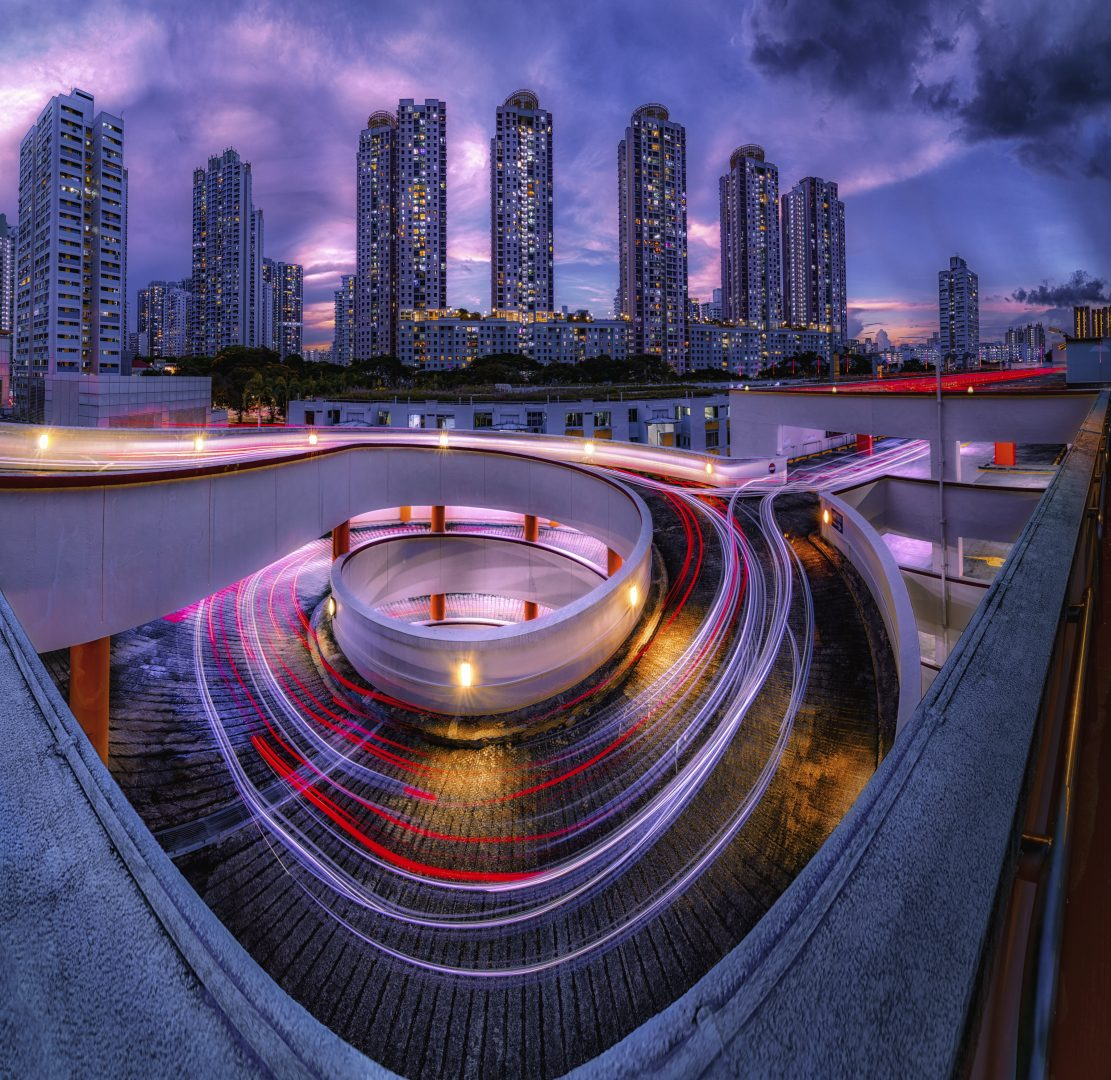 Down to the Underworld. Blue hour at Toa Payoh. Singapore. NW