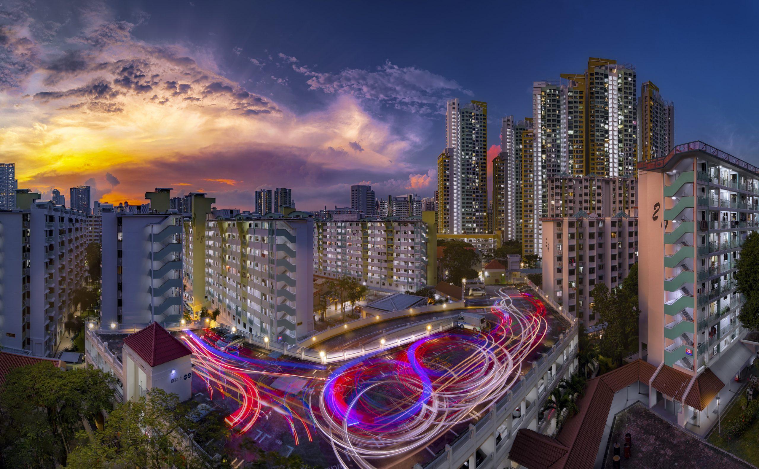 Dusk, Tiong Bahru. Singapore. NW