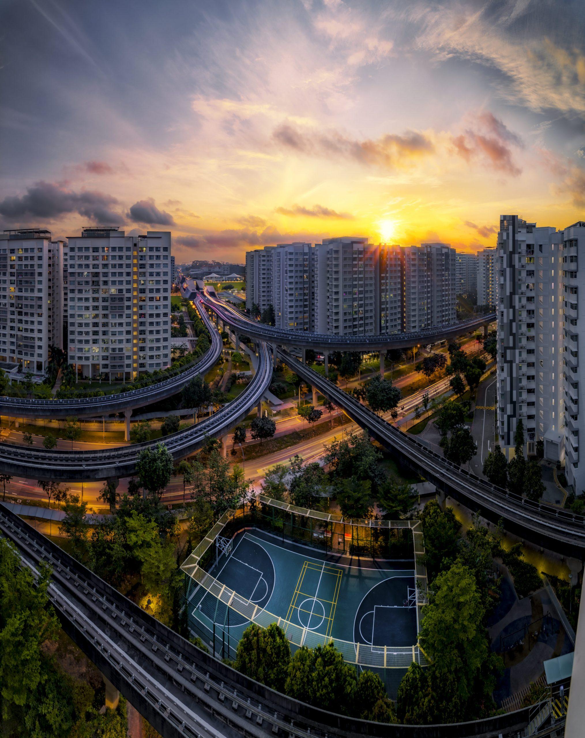 Punggol Sunrise. singapore 22.07.2021 NW