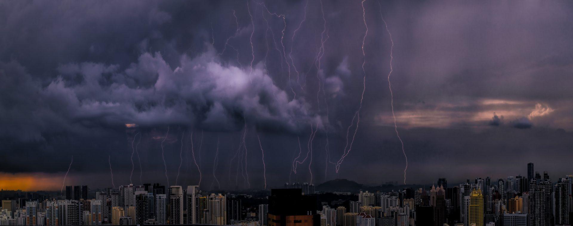Thunderstorm. Singapore 19-06-2021 NW